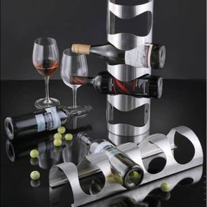 4 Bottle Stainless Steel Wine Rack